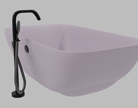 Bath with shower 3D model