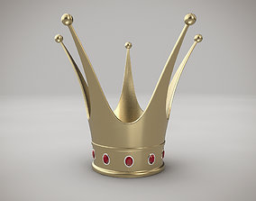 3D model Princess crown with hearts