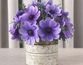 Flowers in vase 4 3D
