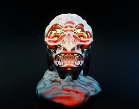 Bowl with skull lid 3D print model