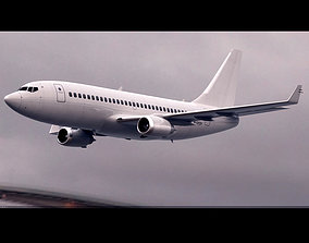Boeing 737-700 Deflaut White 3D model