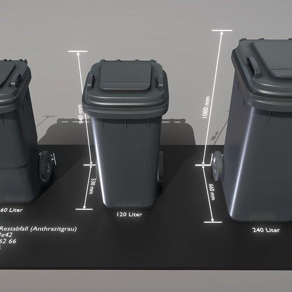 Abfallbehälter Restabfall Anthrazitgrau (Blender-2.92)