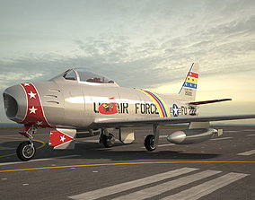 North American F-86 Sabre 3D model models
