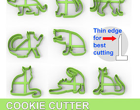 3D printable model COOKIE CUTTER 8 CATS PACK