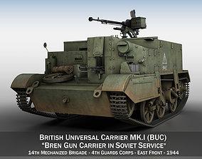 Bren Gun Carrier - BUC - Russian Army 3D model