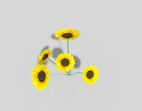 low poly flower 3D model