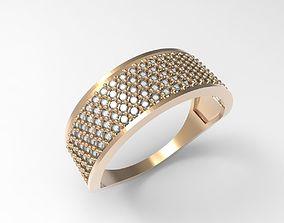 Ring shine of diamonds STL 3D print model