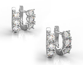 101004E 2 types of classic earrings with 3 3D print model