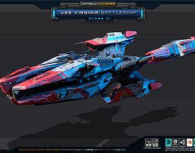 NEXTGEN - USS Virginia BattleShip - Class XI 3D asset