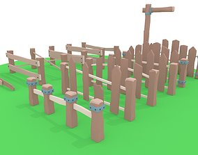 The fence Low-poly 3D asset