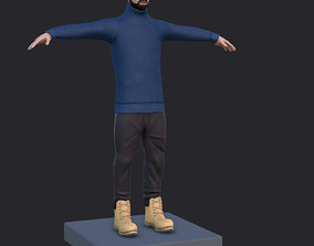 3D model Drake singer low poly Now Available with Rigging