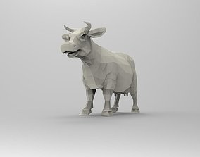 Cow 3D Printable Low-poly