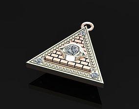 3D printable model pyramid