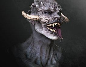 High Poly Bust of a monster 3D
