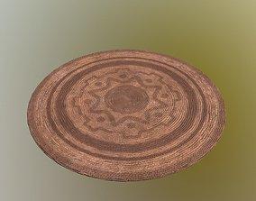 3D asset Ratan Circular Rug