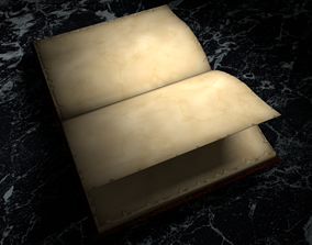 3D asset Animation Book Leather cover diary