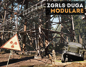 3D model ZGRLS DUGA PRIPYAT CHERNOBYL - 2 GAME
