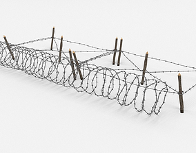 Barb Wire Obstacle 3D blender