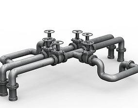 Industrial pipe assembly v5 3D model