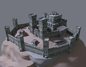 3D medieval castle exterior