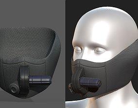 Gas mask helmet scifi fantasy armor 3D model 3