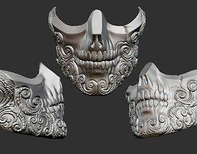 3D printable model skull mask wearable