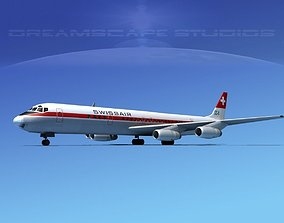 Douglas DC-8-63 Texair 3D