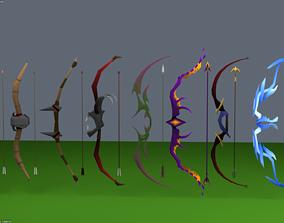 ranged Bow and Arrow Set 3D asset