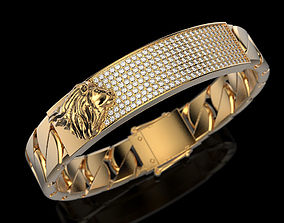 jewellery Bracelet with lion 3D printable model