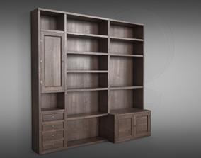 Sideboard Bookshelves vintage 3D PBR