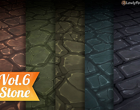 3D model Stylized Stone Vol 06 - Hand Painted Texture