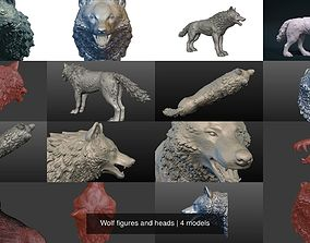 3D Wolf figures and heads