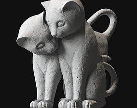 Cats statuette 3D