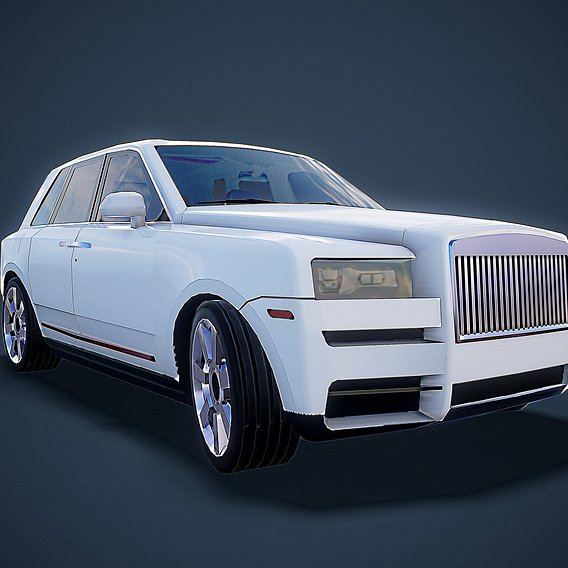 The Rolls-Royce Cullinan Low Poly is on the market soon!