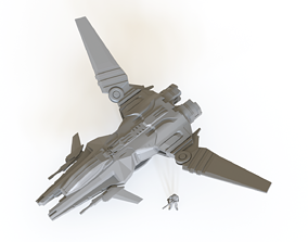 3D printable model Sci fi Fighter