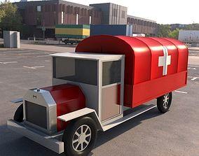 3D model old truck ambulance