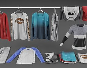 Long sleeve shirt collection 3D model