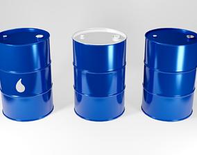 Metal Barrel 3D model game-ready
