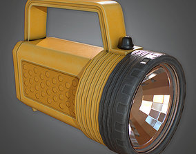 3D asset CAM - Large Flashlight Camping - PBR Game Ready