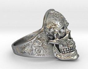 3D print model Skull Ring 2