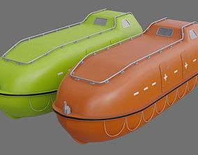 Lifeboat 1A 3D asset
