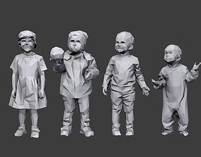 Lowpoly Children Pack 3D model