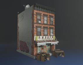 3D asset chinatown building model