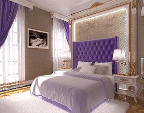 Bedroom Avangard Violet Novxani 3D model