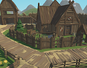 3D model low-poly RPG Poly Pack - Slavic Town