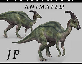 Parasaurolophus 8192 HD - 3d animated model animated