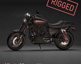 Harley Davidson XR1200x Fully Rigged 3D model