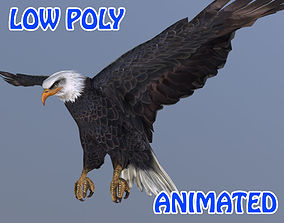 animated low-poly Eagle 3D Model - Animated