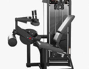 Hammer Strength Select SE Full Seated Leg Curl 3D model