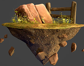 Rock Environment Diorama 3D asset